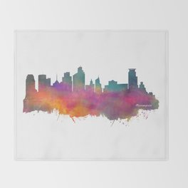 Minneapolis Skyline  Throw Blanket