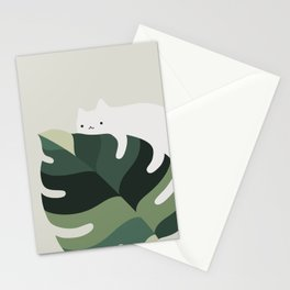 Cat and Plant 12A Stationery Cards
