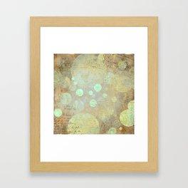 Goldy Mint Bubbles   Minimalist   Abstract   Modern   Shapes   Geometrix Framed Art Print