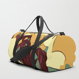 Spring is coming. Abstract vector image of beautiful lilies Duffle Bag