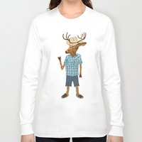 country Long Sleeve T-shirts featuring Country deer by Santiago Uceda