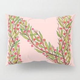 Leafy Letter N Pillow Sham