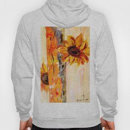 abstract sunflower Hoody