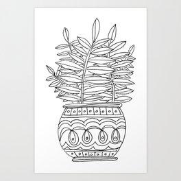 Potted Fern Art Print
