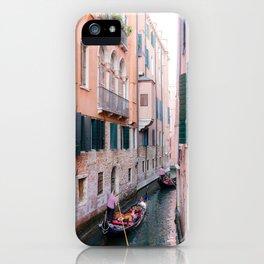 Venice Gondola Rides in Pink iPhone Case