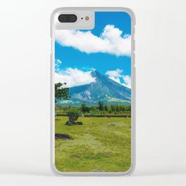 Mayon Volcano Clear iPhone Case