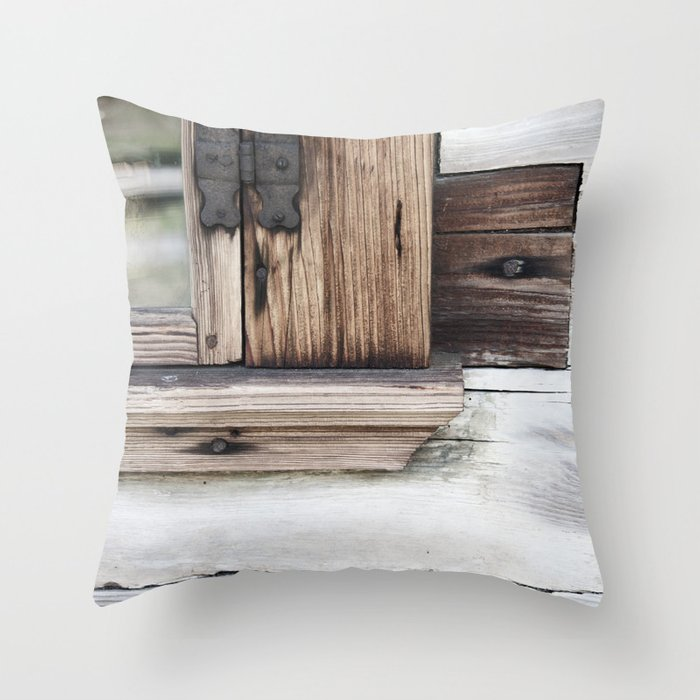 Gray Brown Window Frame Throw Pillow By Kubica Society6
