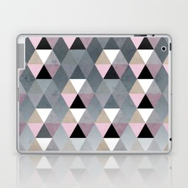 Geometric Prisme Pattern - Pink & Grey Laptop & iPad Skin