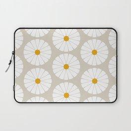 Minimal Botanical Pattern - Daisies Laptop Sleeve