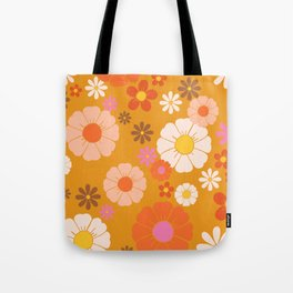 Groovy Mod 60's Flower Power Tote Bag