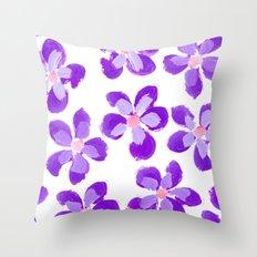 Posey Power - Purple Multi Throw Pillow