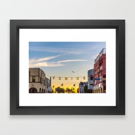 VENICE BEACH FEB 2017 Framed Art Print