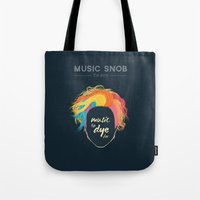 paramore Tote Bags featuring Music to DYE for — Music Snob Tip #075 by Elizabeth Owens
