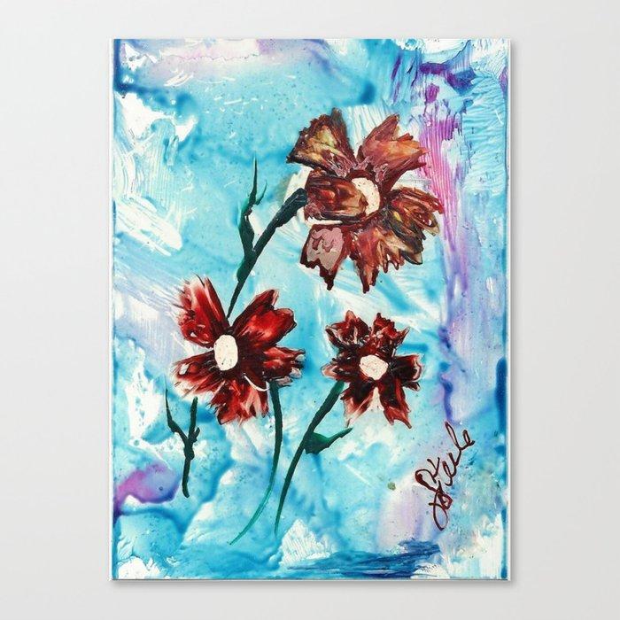 Brown flowers Canvas Print