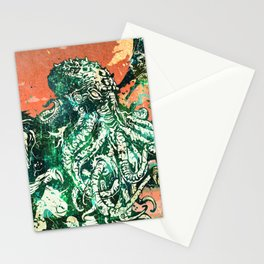 Cthulhu vs Godzilla Stationery Cards