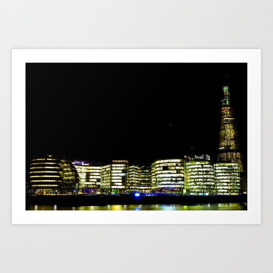 The Shard and London's South Bank Art Print