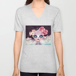 Camila Huesitos - Sugar Skull Unisex V-Neck