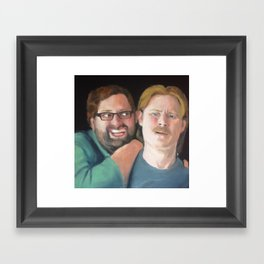 Portrait of Tim Heidecker and Eric Wareheim (Tim & Eric) Framed Art Print
