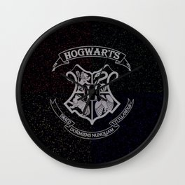 Cosmic Hogwarts Crest HP Wall Clock