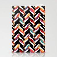 herringbone Stationery Cards featuring herringbone penguin by Sharon Turner