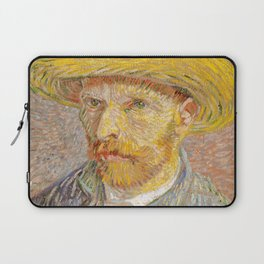 Vincent van Gogh - Self-Portrait with a Straw Hat - The Potato Peeler Laptop Sleeve