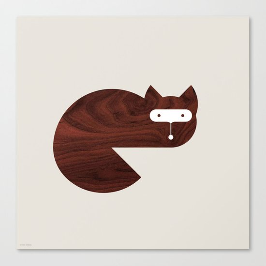 Minanimals: Fox Canvas Print