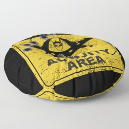 Warning, UFO activity area Floor Pillow