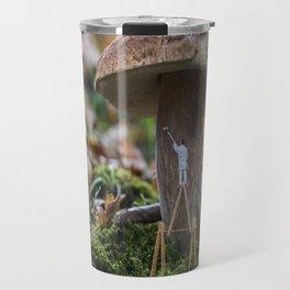 little world painter , painting mushroom Travel Mug