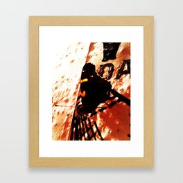 Butterfly on a Poster Framed Art Print