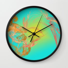 two of us / dancing arround the sun Wall Clock