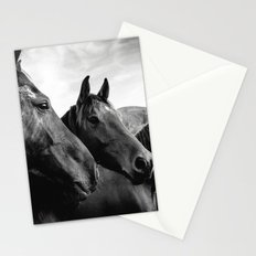 Horse heads Stationery Cards