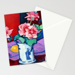 Samuel Peploe Pink Roses Stationery Cards