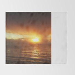 Smokey Sunset II Throw Blanket