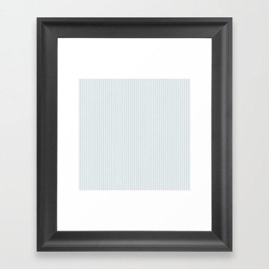 PATTERN: BLUE WAVE LINES Framed Art Print