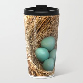 Four American Robin Eggs Travel Mug