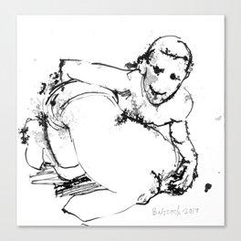 Crossface Canvas Print
