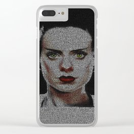 The Bride of Frankenstein Screenplay Print Clear iPhone Case
