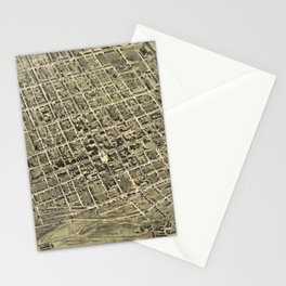 Vintage Pictorial Map of Allentown Pennsylvania (1901) Stationery Cards