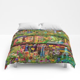 The Secret Garden Book Shelf Comforters