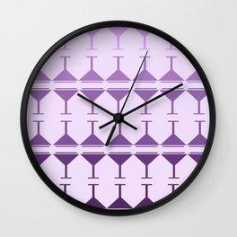 Monochromatic Martini - Purple Wall Clock