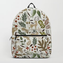 Christmas in the wild nature Backpack