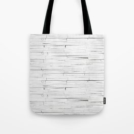 White Wooden Planks Wall Tote Bag