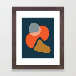 Abstract # 3 Blue Orange Framed Art Print