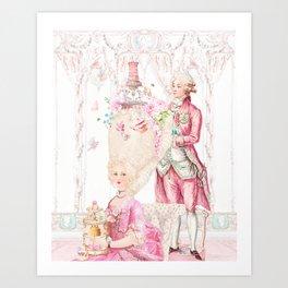 Marie Antoinette Rococo High Tea Art Print