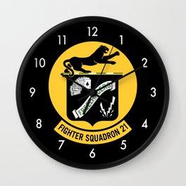 Fighter Squadron Twenty One VF-21 Freelancers Wall Clock