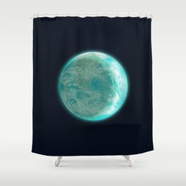 Pale Blue Dot Shower Curtain