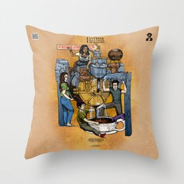The Fantastic Craft Coffee Contraption Suite - The Power Percolator Professionals Throw Pillow