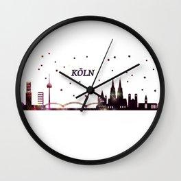 Skyline Köln Wall Clock