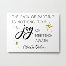 The pain of parting Metal Print