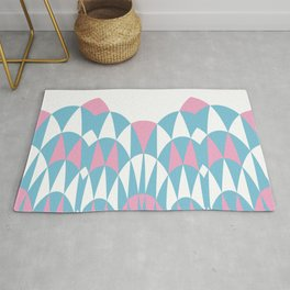 Modern Day Arches Pink Rug
